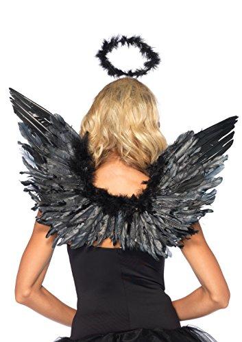 Imagen de leg avenue  206522001  accesorios disfraz  conjunto de accesorios  modelo 2065  ángel accesorios kit  one size  negro alternativa