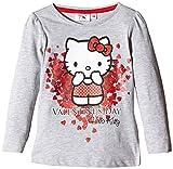 Sanrio Mädchen T-Shirt Hello Kitty, Grau, 122 (8&nbspJahre)
