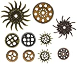Prima Marketing Mechanicals Metal By Embellishments Finnabai-Steampunk Ingranaggi, Altri, Multicolore