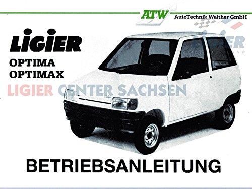 Preisvergleich Produktbild Betriebsanleitung Ligier Optima deutsch - 37 Seiten