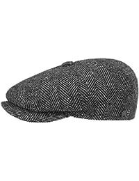 Lierys Fischgrat Flatcap (Schiebermütze) Herren | Hatteras Cap aus Schurwolle (Tweed) mit Fischgräten Muster | Mütze Größen S, M, L, XL | verschiedene Farben | Herbst/Winter