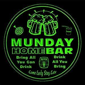 4x ccq31723-g MUNDAY Family Name Home Bar Pub Beer club Gift 3D Coasters