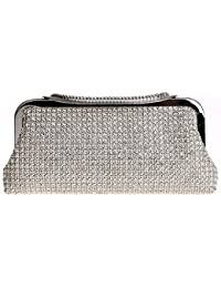 KAXIDY Femmes Luxe Strass Diamante Sac a Main Pochette Sac de Soirée