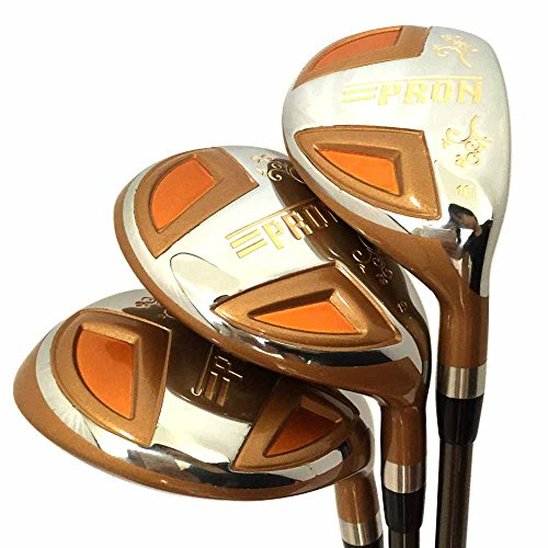Japon Epron tr or club de golf hybride en bois Set + Housse en cuir (16, 19, 22 degrés Loft, Lot de 3)