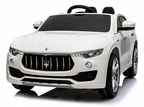 Maserati Macchina Elettrica per Bambini 2 Posti 12V Levante Bianca