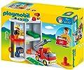 Playmobil 6777 - 1.2.3 maletín con diseño parque de bomberos de Playmobil