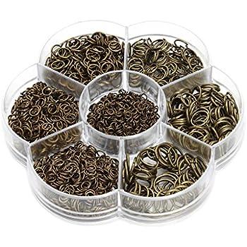 Healifty 100pcs ruban en m/étal termine bracelet marque-page pince rose cordon termine attaches fermoirs fermoirs en cuir se termine /à sertir pour la fabrication de bijoux artisanat 2cm bronze