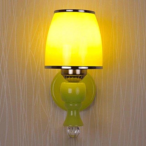 GAODUZI Simple et Moderne LED Double Tête Applique Créative Personnalité Chaude Salon Chambre Chevet Lampe Passage Couloir Porche Lumière E27 (Couleur : A)