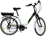 Fenetic Fusion deluxe step through E-bike Electric bike with Samsung battery, suspension and 18 gears