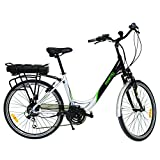 Fenetic Fusion deluxe step through E-bike Electric bike with Samsung battery, suspension