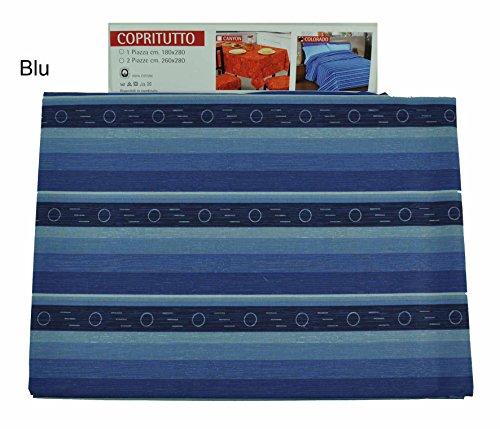 Casa tessile colorado telo arredo copritutto cm 260x280 - blu
