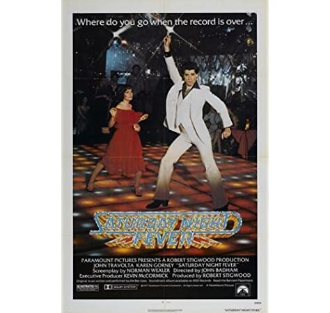 Vintage Saturday Night Fever Movie Poster A3//A2//A1 Print