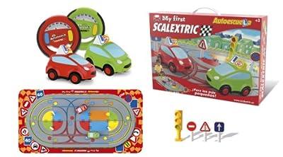 My First Scalextric - Circuito Mi primera Autoescuela para niños de 2 a 4 años (F01800S500) por Fábrica de Juguetes