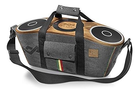 House of Marley EM-JA003-MI-EU Bag of Rhiddim BT Midnight tragbares Audio System mit Dockingstation für Apple iPod/iPhone