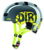 UVEX Kinder Kid 3 Radhelm, Dirtbike Gray-Lime, 51-55 cm