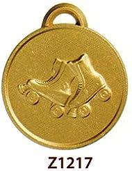 10deportes medallas de ceremonia–Patinaje sobre ruedas–acabado mm 32en aleación de zamak con cinta Tricolor–fabricado en Italia–Possibilita 'de personalización con grabado de acuerdo