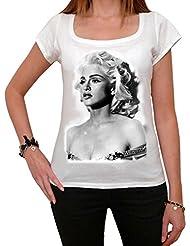 Madonna Concert Tour, tee shirt femme, imprimé célébrité,Blanc, t shirt femme,cadeau
