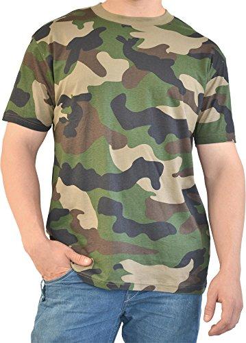 T-Shirt im US Camouflage Woodland Design Farbe Woodland Größe M -