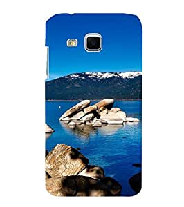 Fuson Designer Phone Back Case Cover Samsung Galaxy J3 ( Rocks In The Sea )