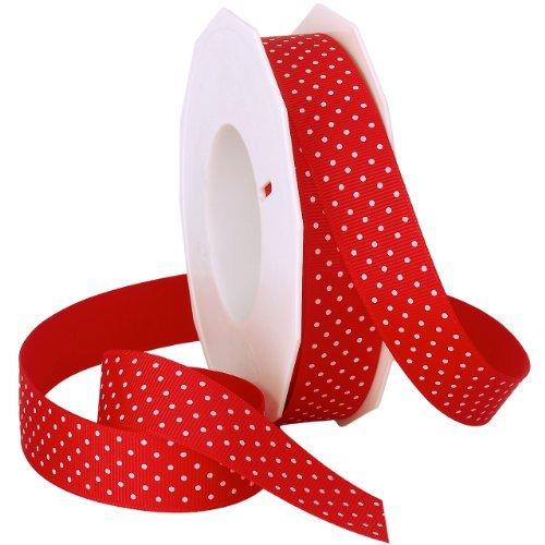 Swiss Dot Ribbon (Morex Swiss Dot Grosgrain Ribbon, 7/8-Inch by 20-Yard Spool, Red by Morex)