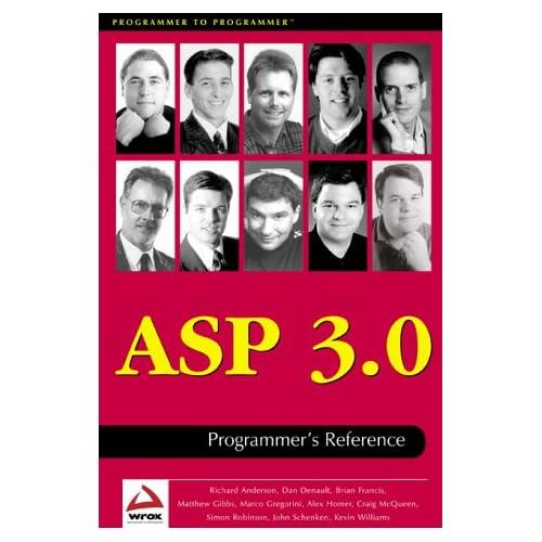 ASP 3.0 PROGRAMMER'S REFERENCE