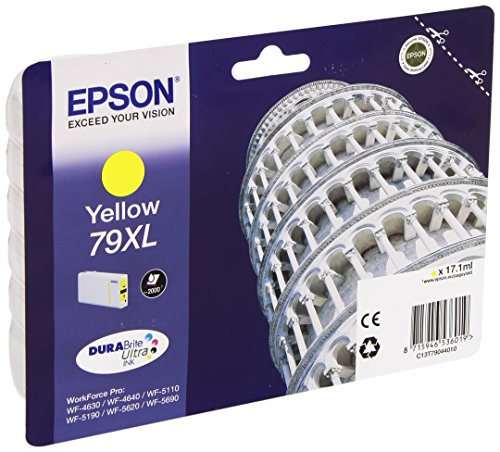 Epson 79 Serie Torre, Cartuccia Originale Getto d'Inchiostro DURABrite Ultra, Formato XL, Giallo, con Amazon Dash Replenishment Ready