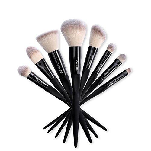 Bluelover Ucanbe 8Pcs Soft Nylon Maquillage Brosses Ensemble Mélange De Poudre Yeux Ombre Lèvres Sourcils Eye