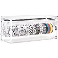 Darice I Spy Diy Acrylic Washi Tape Dispenser with 11 Rolls, Multi-Colour, 10.16 x 22.22 x 8.89 cm