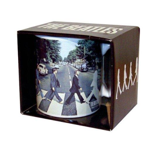 The Beatles - Rock Band Tasse Geschenktasse (Abbey Road)...toll und stabil verpackt in einer Geschenkbox! -