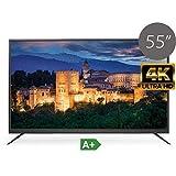 "TV HD TDSystems 55"" Pulgadas Ultra HD K55DLS6U (Resolución 3840x2160/VGA 1/HDMI 2/EUR 1/USB Reproductor y Grabador) Televisor Ultra HD"
