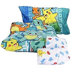 """Northwest El noroeste empresa Pokemon, primera Starters doble cama en una bolsa, color, 64""""x 86"""""""