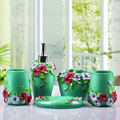 MIAORUI artisanat / résine de salle de bains, cinq laver ensemble / cadeau de mariage