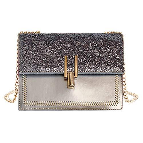 Mitlfuny handbemalte Ledertasche, Schultertasche, Geschenk, Handgefertigte Tasche,Damenmode Pailletten kleine quadratische Tasche Kette Diagonale Tasche Umhängetasche - Gucci Coral