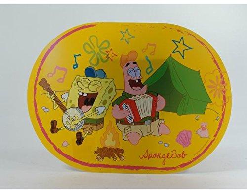 Accessori bimbi spongebob tovaglia tovaglietta da colazione in pvc 35x25 cm