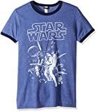 Star Wars Men's Official 'Poster' Graphic Tee, Heather Blue Navy, XX-Large