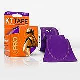 KT TAPE PRO bande élastique synthétique de kinésiologie Bande de sport–Soulagement de la douleur et support–100% étanche–Rouleau de 4.9m, Violet épique