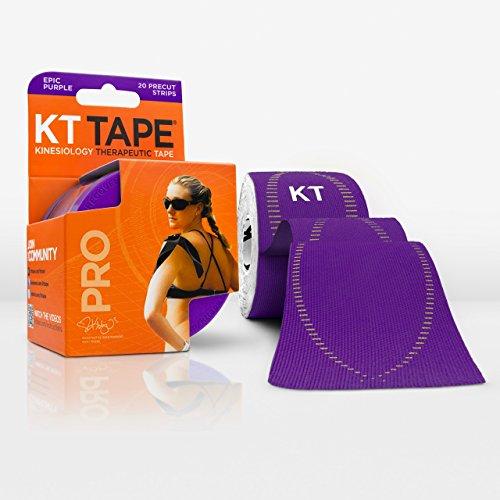 Weißes Athletisches Band (KT TAPE PRO Synthetik Kinesiologie Elastisches Sport Tape–Schmerzlinderung und Unterstützung–100% wasserdicht–4,9m Rolle Epic Purple)