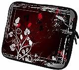 """#DoYourMobile© 6Zoll Tasche/Schutzhülle für eBook-Reader/eReader - Wasserdichtes Neopren mit Reißverschluss in der Größe 18,5 x B 14cm / für Tablets mit Bildschirmgröße ca. 6,5-7,2"""" / Design : 32"""