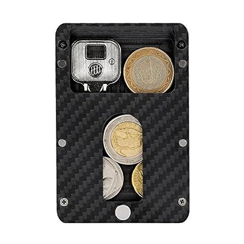 PITAKA extra dünnes magnetisches Karbon Kreditkartenetui, Geldbeutel mit