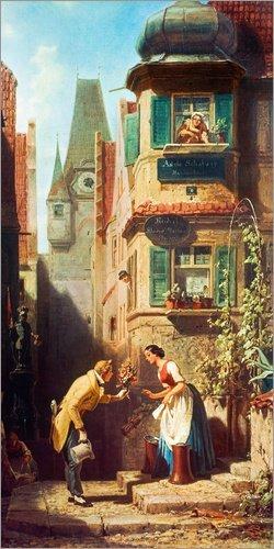 Posterlounge Acrylglasbild 90 x 180 cm: der ewige Hochzeiter von Carl Spitzweg/ARTOTHEK - Wandbild,...