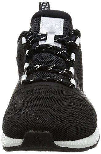 adidas Pure Boost X Tr 2, chaussures de course femme noir/argent/blanc