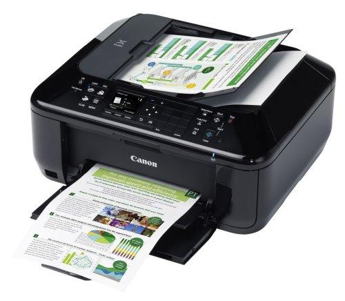 Canon MX525 Pixma Farbtintenstrahldrucker (Multifunktionsgerät: Drucker, Scanner, Kopierer, Fax, 4.800 dpi, USB/WLAN/LAN) schwarz