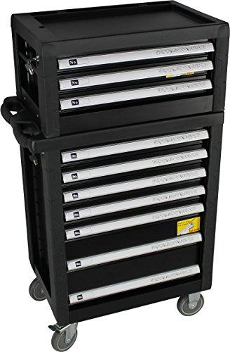 BigBoy V2 Werkstattwagen Werkzeugkiste Kombination - gefüllt mit Handwerkzeug | 10 Schubladen - 8 bestückt | Bit Sets, Ratschen, Nüsse und vieles mehr... - 2