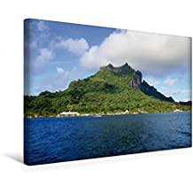 Premium Textil-Leinwand 45 cm x 30 cm quer, Hafen von Vaitape (Bora Bora)   Wandbild, Bild auf Keilrahmen, Fertigbild auf echter Leinwand, ... durch den Südpazifik. (CALVENDO Orte)