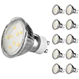 Ascher 10er Pack GU10 LED 4W Lampe - vgl. 50W Halogen - 420 Lumen - GU10 LED Warmweiß - LED Leuchtmittel 120°