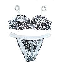 OULII Traje de baño de traje de baño de dos piezas Bikini para mujer - Talla S