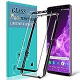 TAURI Protection écran pour Samsung Galaxy S9 Plus [9H Dureté] [Courbe 3D] [Kit d'installation Offert] Film Protection Verre Trempé - Noir