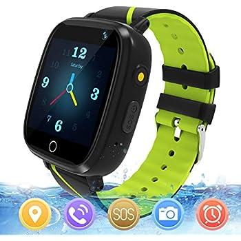 Reloj GPS Niños Smartwatch Phone - Reloj de Pulsera Inteligente con Ubicación GPS LBS Reloj con Call Voice Chat SOS Cámara Niños Cumpleaños