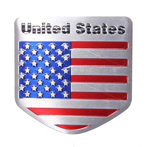 Yongse USA Flaggen Metall Auto Refitting Auto Abzeichen Emblem Abziehbild Aufkleber -