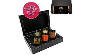Hallingers 5er Premium-Grill-Gewürze als Geschenk-Set (95g) - Meistergriller (MiniDeluxe-Box)